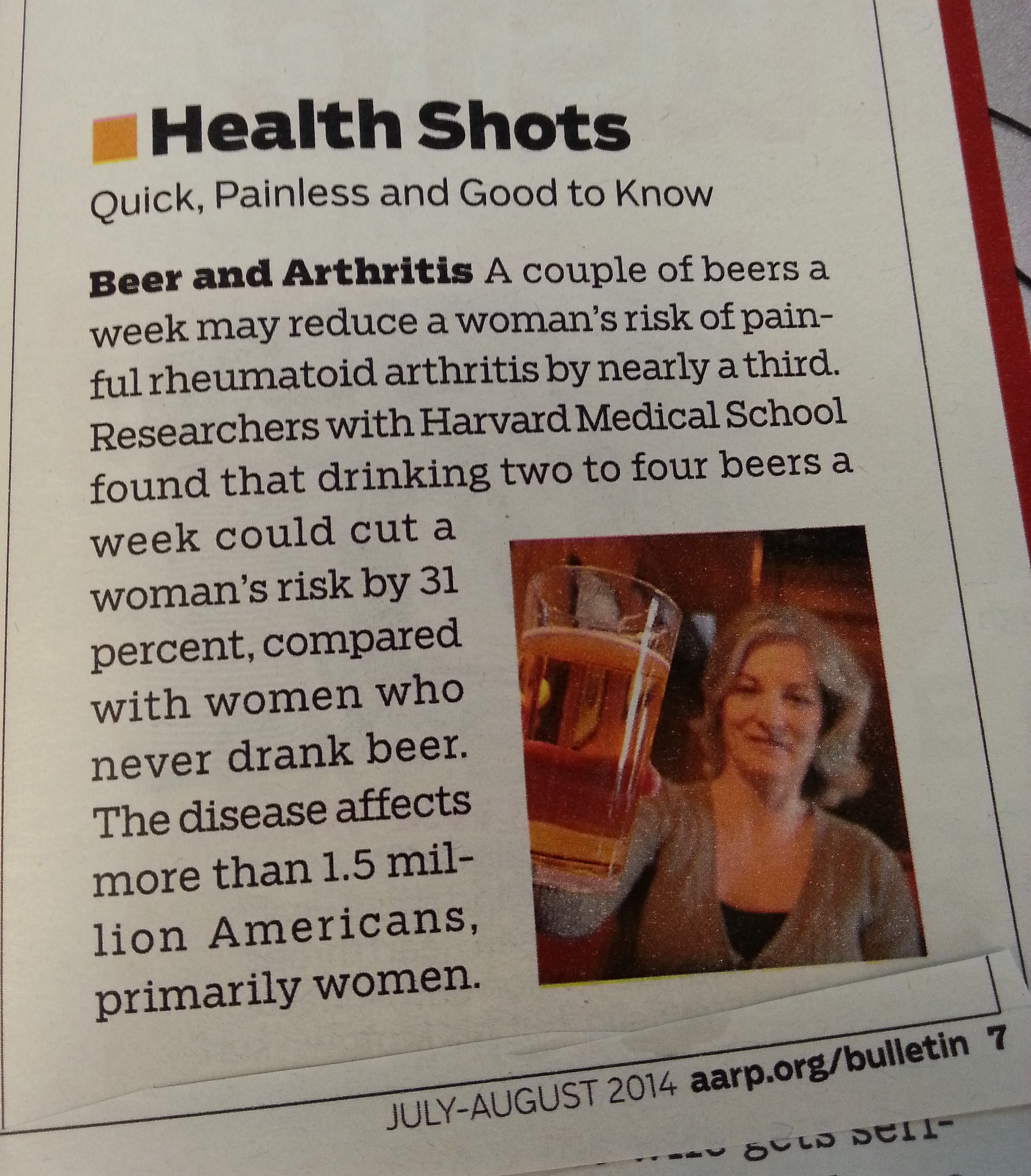 Beer Helps with Arthritis? Really?