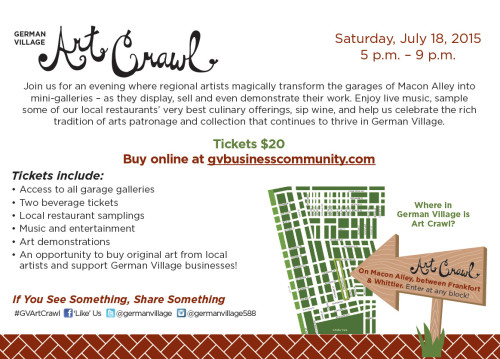 German Village Art Crawl!