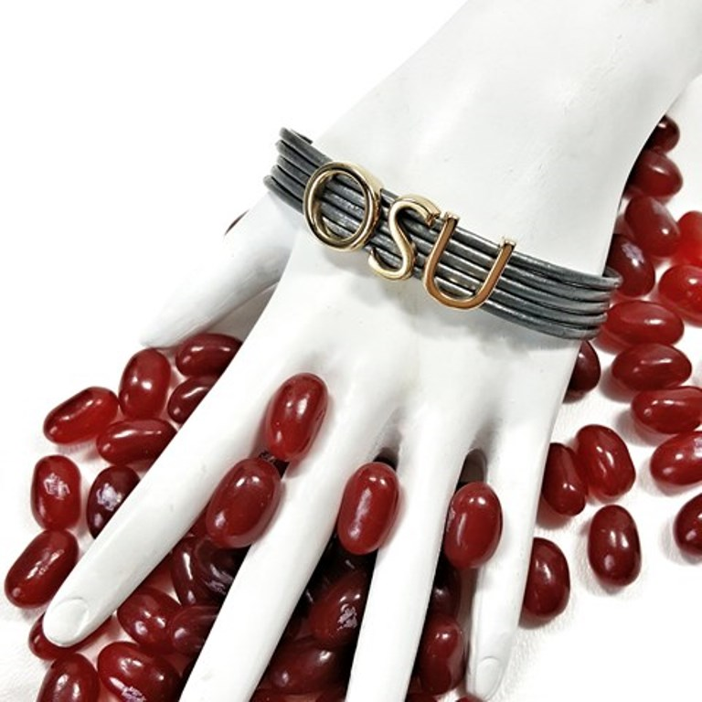 Ohio State Leather Bracelet Osu Jewelry College For Women