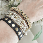 Layered Bracelets Gold Beads Mix and Match