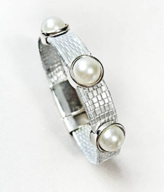 Pearls and leather are a hot combination for my leather stack bracelet collection with magnetic clasps