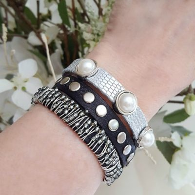 Leather Beaded Stacking Bracelets – New