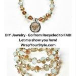 DIY Recycled Broken Jewelry made into beautiful memory wire bracelets.