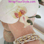 Ivory Leather and gold bead bracelet is great gift especially for bridesmaids.