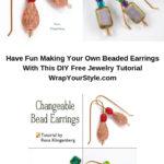 DIY Free Jewelry Tutorial for changeable bead earrings.