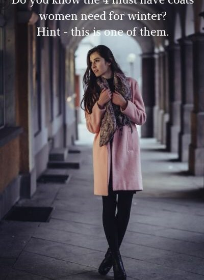 Casual BoHo lady wearing casual winter coat.