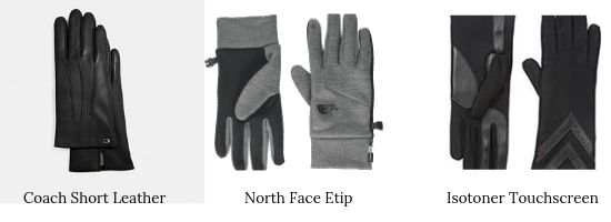 Pairs of winter gloves for winter.