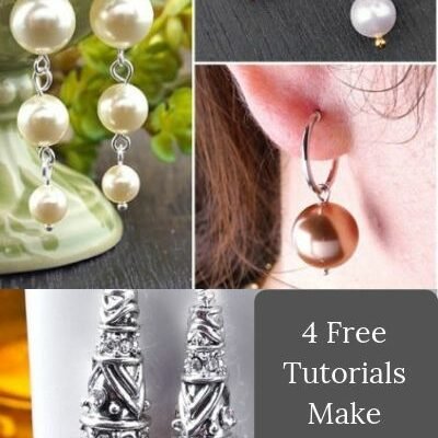 4 Free Tutorials How to Make Beautiful Pearl Earrings Jewelry