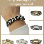 Graphic of Initial H Bracelet in six different colors