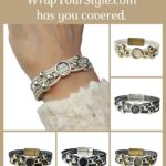 Graphic of Initial O Bracelet in six different colors