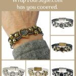 Graphic of Initial Q Bracelet in six different colors