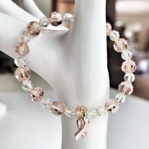 Cancer Awareness Bracelet on hand display
